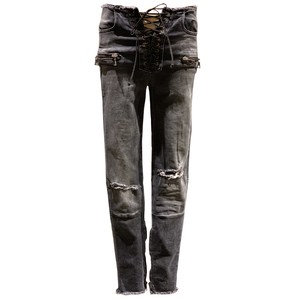 BEN TAVERNITI UNRAVEL Crashed Skinny Jeans Black