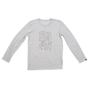 プリントロングスリーブTシャツ:オートミール