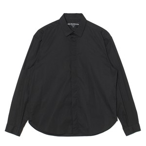 FLY FRONT SHIRT - BLACK