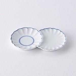 重ねライン 小分け菊皿