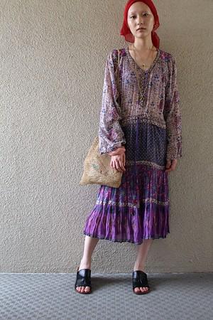 70s boho cotton dress