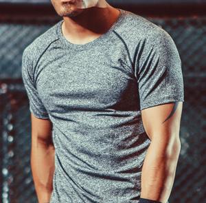 メンズ Tシャツ トレーニングウェア グレー