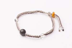 富士山溶岩ブレスレット[Lava Bracelet]茶Xベージュ