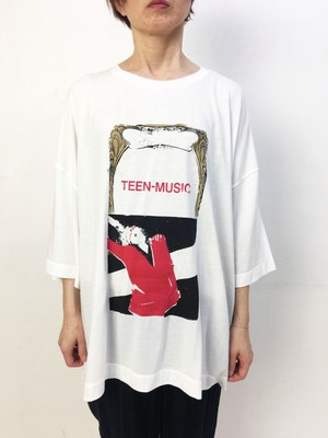 2-211-814 TEEN MUSIC TEE  [WH X RED]