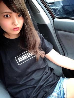 AKANESAS NEW BOXロゴTシャツ BLACK × WHITE