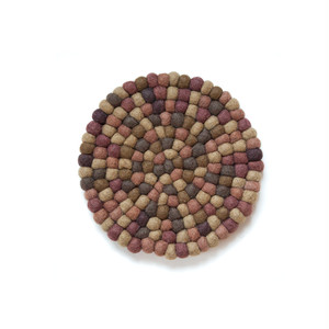 Felt Ball Pot Mat / Khaki