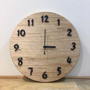 【受注制作】無垢材くるみの掛け時計BIG