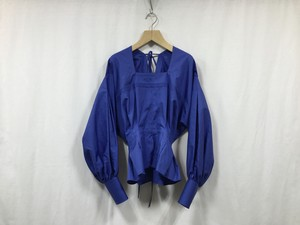"JUN MIKAMI "" ALMO BRODE SQURE NECK BLOUSE  "" BLUE"
