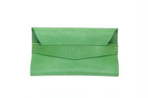 イタリアンレザー  オリジナル名刺入れ Green