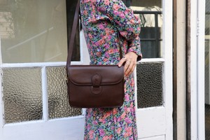 Yves Saint-Laurent brown shoulder bag