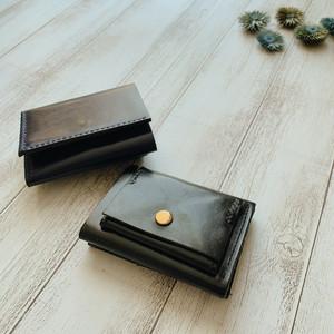 本革3つ折りミニウォレット 超コンパクト 名入れ(焼印)無料 ルガトショルダー カラー10色