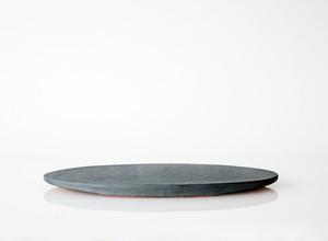 TSUKI フラットプレートオーバル 300(瓦食器・平皿・楕円)