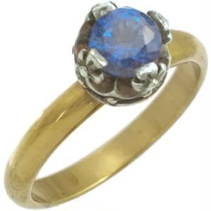 ブルースピネルクロスクラウン シルバー リング(指輪)*R-1006BS