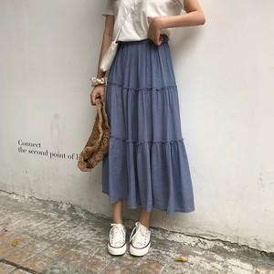 【ボトムス】エレガントハイウエストAラインロングスカート19415193