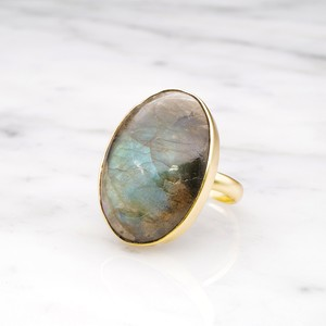 SINGLE BIG STONE RING GOLD 124