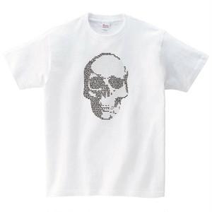 文字ドクロ Tシャツ
