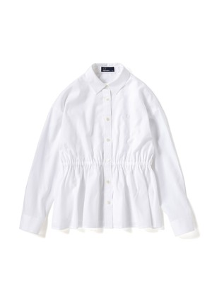 (フレッドペリー) FRED PERRY F8458 10 WOMEN BACK PLEATED SHIRT WHITE