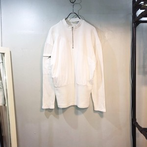 half zip up cotton Knit