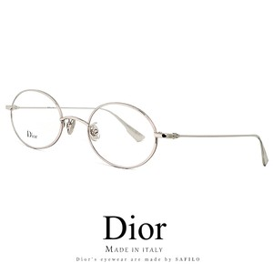 Dior メガネ stellaire07f-010 眼鏡 ディオール Christian Dior オーバル 銀ぶち 銀縁 丸眼鏡