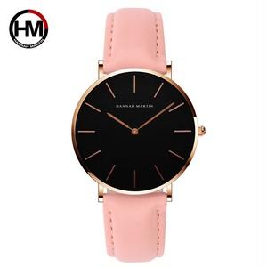 女性の時計クリエイティブトップブランド日本クォーツムーブメント時計ファッションシンプルな因果レザーストラップ女性の防水腕時計CH36-FF