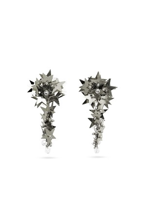 Spangle Star Earrings | SILVER