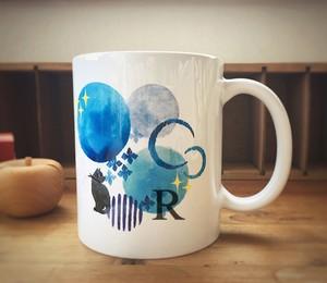 選べる名入れ【雨月の猫】マグカップ♡