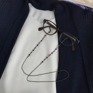 【Atelier Amie】天然石を使用したグラスコード(メガネチェーン)ラピスラズリ