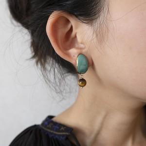 PEKI!RARIGON Peau earrings turquoise