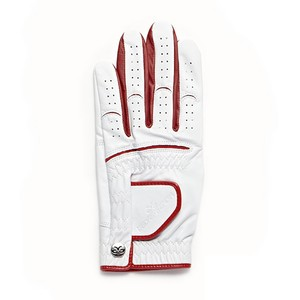 【Men's】 Athlete Glove white-red