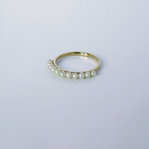 SUZURAN / Baby Pearl Ring (Yellow Gold)