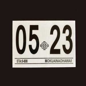 ハワイ 車検ステッカー 2023年5月 (インスペクションステッカー)
