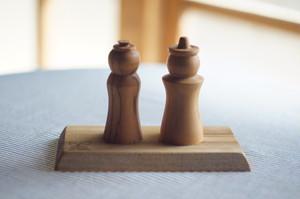木の雛人形 オーナメント(受注製作)