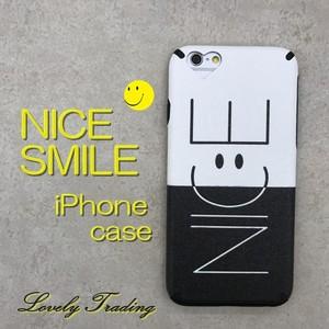 バイカラー スマイル iPhoneケース NICE ソフト ケース ★ iPhone 6 / 6s / 6Plus / 6sPlus / 7 / 7Plus ★ [SI045]