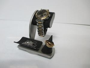 腕時計、リング、小物、アクセサリースタンドブラック だ円パイプ AKデザイン