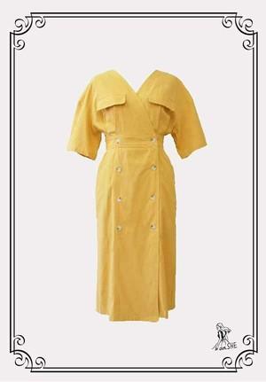 【完売御礼】V Neck Cotton Dress / Vネック コットンドレス