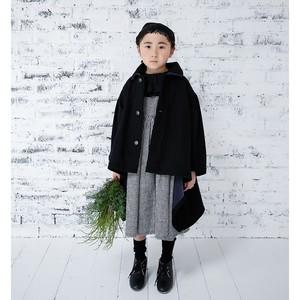 【予約】michirico back fleece coat  ブラック (L/XL)[MR20AW-18] ※メール便不可
