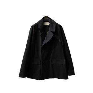 "PRESTON W BREASTED COAT ""Plain"" <black> 【CURLY】"