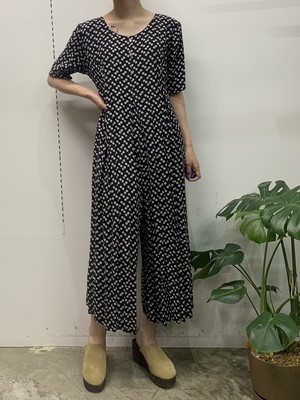 MADE IN USA Mother Work button print jumpsuit 【M】