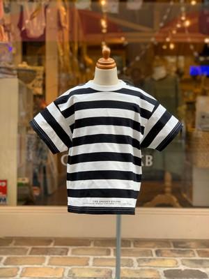KIDS&ADULT:GROOVY COLORS【グルービーカラーズ】天竺ボーダー STANDARD BIG TEE(150,160cm)Tシャツ