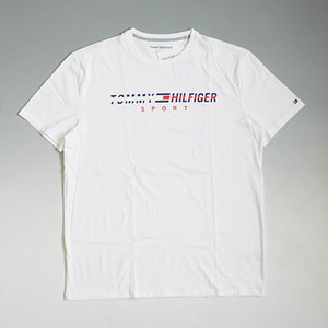 【メール便全国送料無料】TOMMY HILFIGER SPORT トミーヒルフィガースポーツ ベーシックプリントロゴ Tシャツ ホワイト