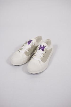 【Needles】asymmetric ghillie sneaker - white