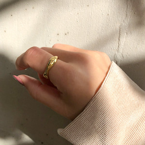 Silver925  mar ring gold 0082