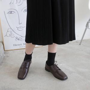スクエアトゥオックスフォード 革靴 おじ靴 スクエアトゥ レースアップ ローヒール 合皮 黒 ブラック 茶 ブラウン 大人カジュアル 韓国