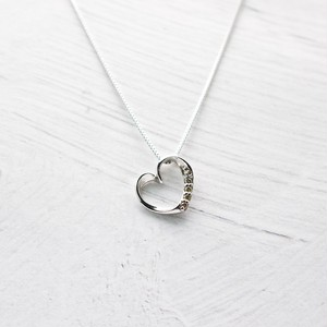 Heart Diamond Necklace 0.03ct | K18WG