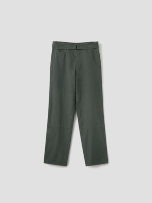 LEMAIRE TRENCH PANTS DEEP FOREST M 213 PA171 LF288