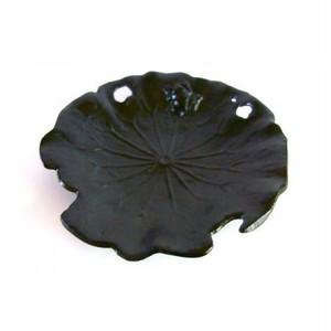 カエルレリーフトレイ(蛙小物小皿)ブラックマット