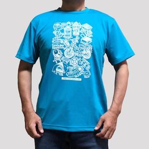 キャンプツーリングTシャツ・ターコイズ