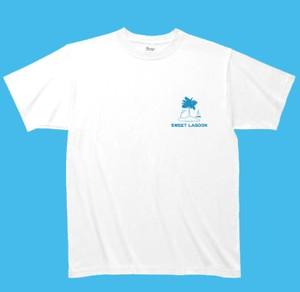 白Tシャツ 胸 Sweet Lagoon ロゴ