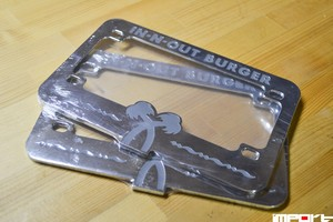 IN-N-OUT Burger Motorcycle Licence plate frames