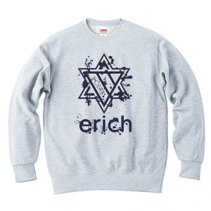 ERICH / HEXAGRAM LOGO CREWNECK SWEAT ASH